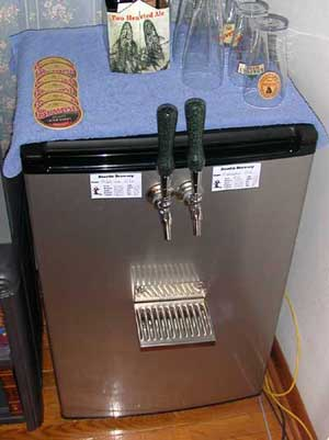 finished kegerator